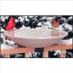 20 inch heated deck rail bird bath 150x150 Heated Bird Baths For Winter